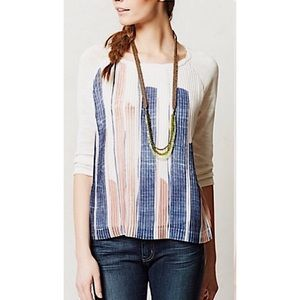 Anthropologie ONE September | Pleated Knit Blouse